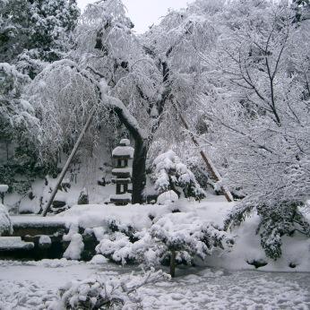 Kenrokuen snow scene